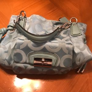 Tiffany blue coach purse and matching wallet